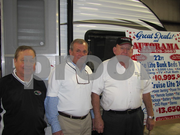 These fine guys from Autorama RV Center out of Des Moines were at The Messenger's Home & Garden Show in Fort Dodge to show off several of their RVs.  They are Mark Guynn, T. Irving, and Ed Garner, owner of Autorama.