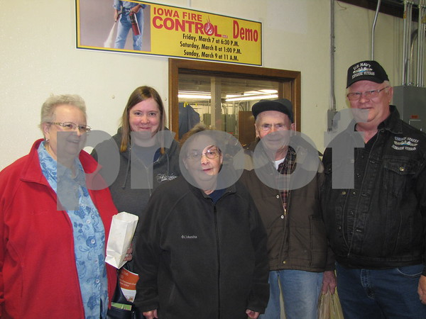 Roxie Jacobson, Carri, Elaine, and Arnie Danker, and Ed Jacobson were out to enjoy all the booths and presentations at the Messenger's Home and Garden Show.
