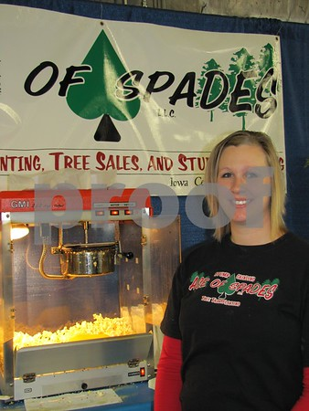 Crystal Pierce of Ace of Spades tree service was serving up hot popcorn to attendees.