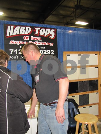 "Hard Tops of Iowa, ""The Tub Refinishing Specialists"" booth at Home & Garden Show."