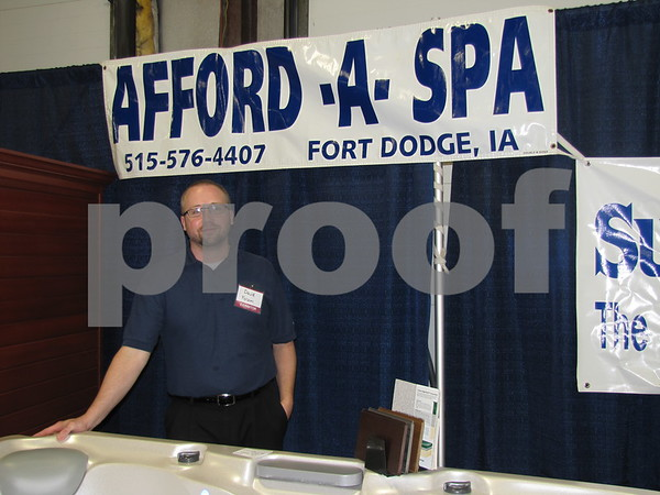 David Folsom of Afford-A-Spa had a working hot tub on display at the Home & Garden Show.