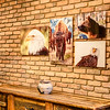 Some of my wildlife metal prints on display in the Homestead 89 Gallery in Bozeman Montana.