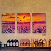 Sunset Thistle Triplet metal prints on display in the Homestead 89 Gallery in Bozeman Montana.