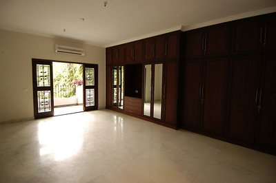 Large bedroom.  Good example of nice wardrobes in all bedrooms.  Again a large balcony off each bedroom