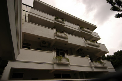 Looking up at Balconies