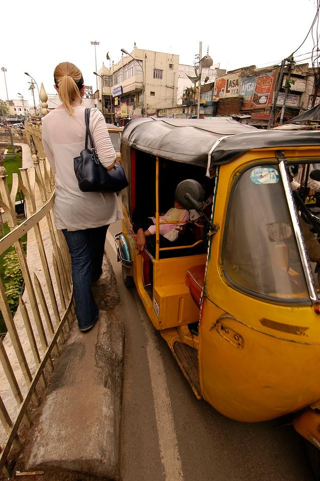 That Rickshaw is moving...FAST.