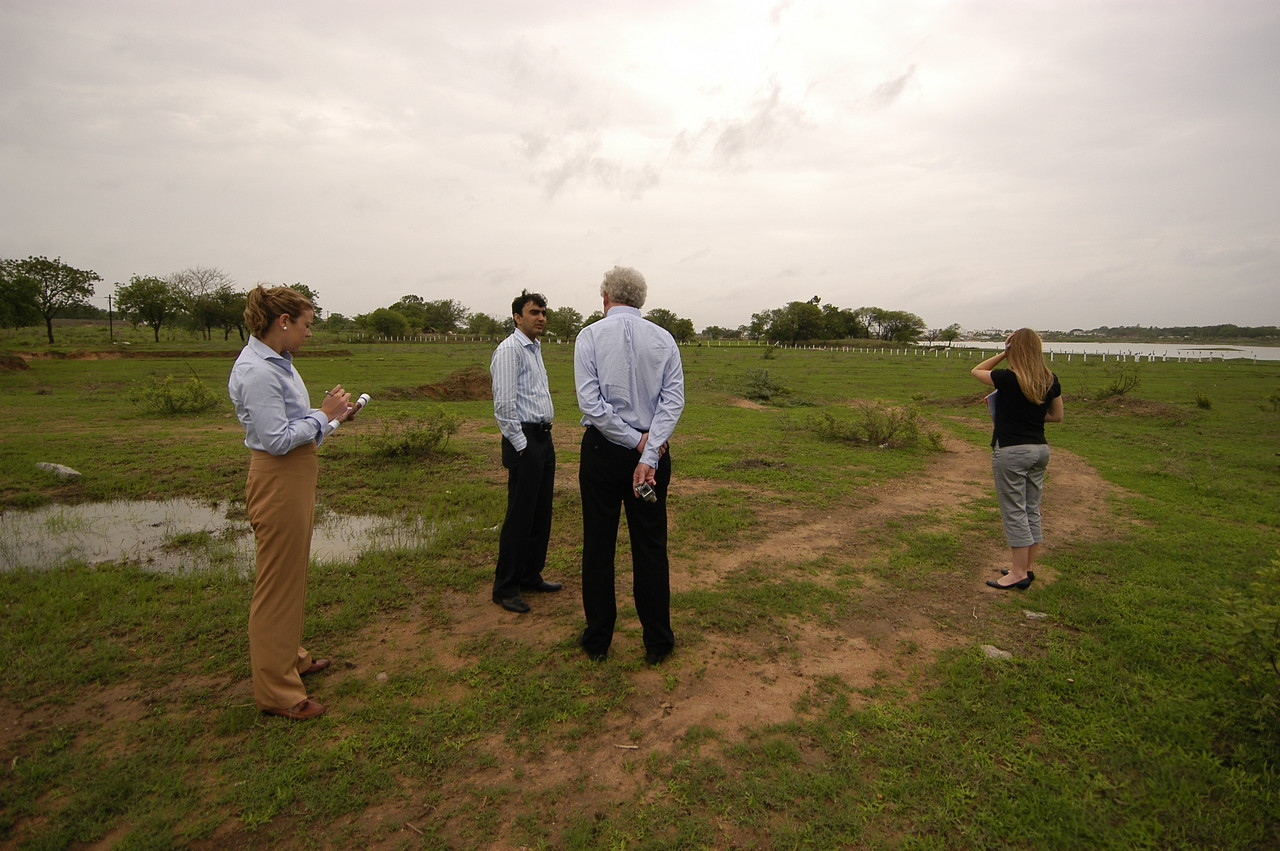 The gang at MS's 92 acre site in Hyderabad