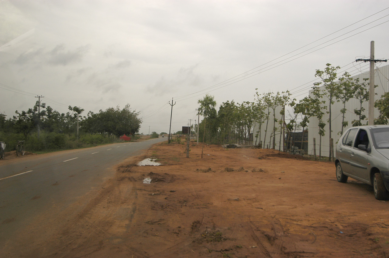 Street of MS's 92 acre site in Hyderabad