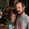 Cypress with his Dad Aaron, Brewer at Hydro Street Brewing Co. & Eatery
