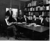 The INCRA New York staff about 1968 or 1969 in the office at the Time-Life Building.<br /> L. McD Schetky, Larry Downes, Charles H. Moore, Paul Rugile, Charles Whitman, Al Machonis, Lou Fitzgerald