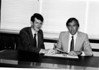 Tony Rayne and Brian Moreton in the UK office, early 1980s.