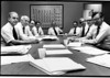 In the office at 825 Third Avenue, George Cypher, Stu Lyman from CDA INC., Peter Struby from Cerro?, Bill Rowe from ASARCO, Charlie Moore, Bill Opie from AMAX, Mac Schetky, Skip Koslik from INCO and Harold Nelson from Phelps Dodge.