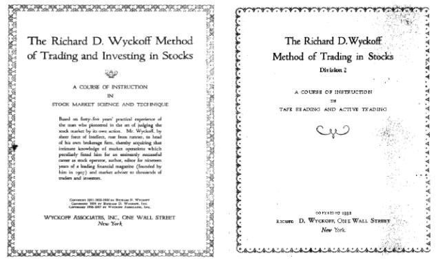 Richard Wyckoff course books