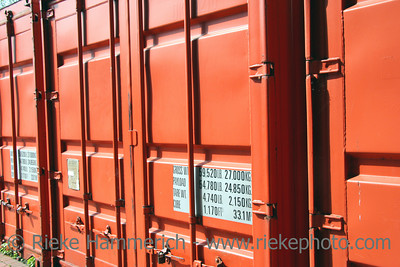 Container closeup - waiting for the next journey