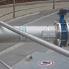Pipe with Air Valve – Part of a Sewage Treatment Plant - Note for Inspector: text on the sign plate is no advertisement, but german words for exit air and sullage tank