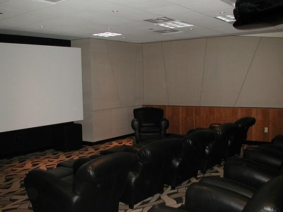 Here's our movie room - we had DSS, DVD, VHS and direct hookup to a video editing room right next door where we made our videos for E3, web, etc.