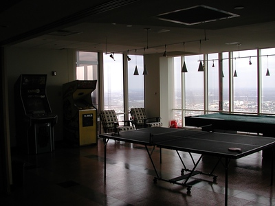 The rec area....we had 3 arcade machines (changed out every so often), ping pong and pool.  The foosball table was in another area.