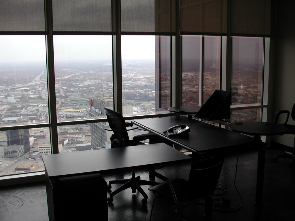 Small office for execs flying into town (Eidos, design groups, etc.)