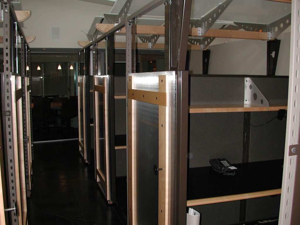 """Cubicles - all of them exactly the same.  This area was for what's called """"back office"""" - secretaries, web guys, etc."""