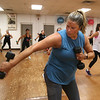 Jazzercise class at Chelmsford studio on Parkhurst Road. It's the 50th anniversary of the dance fitness phenomenon. Christina McConnell of Chelmsford. (SUN/Julia Malakie)