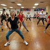 Jazzercise class at Chelmsford studio on Parkhurst Road. It's the 50th anniversary of the dance fitness phenomenon. Ginger Dries of Westford, front. (SUN/Julia Malakie)