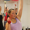 Jazzercise class at Chelmsford studio on Parkhurst Road. It's the 50th anniversary of the dance fitness phenomenon. Olivia Ciardi, 8, of Chelmsford, who was taking the class with her mother. (SUN/Julia Malakie)