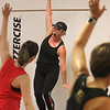 Jazzercise class at Chelmsford studio on Parkhurst Road. It's the 50th anniversary of the dance fitness phenomenon. Instructor Tina Michaud of Chelmsford. (SUN/Julia Malakie)