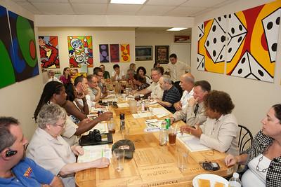 Non Group Lunch with Broward Sherrif Al Lamberti and Vice Chair of the Broward School Board Jennifer Gottlieb