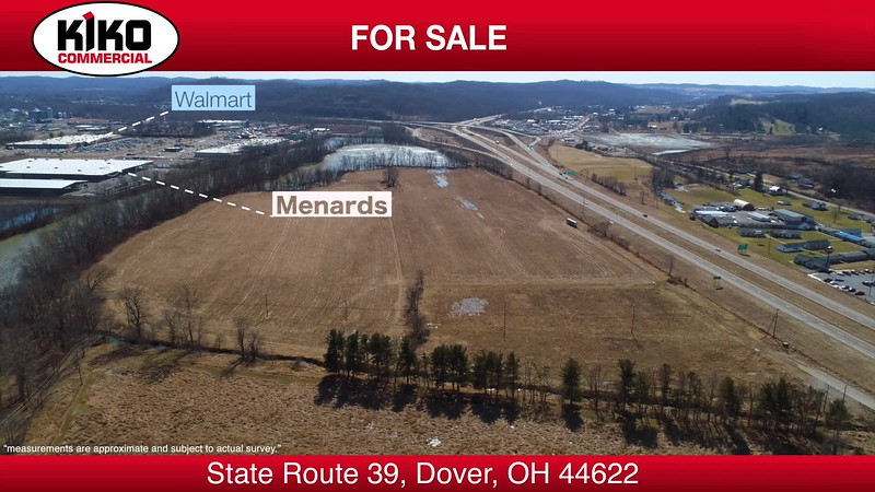 9.6 acres of commercial land in Dover, Ohio