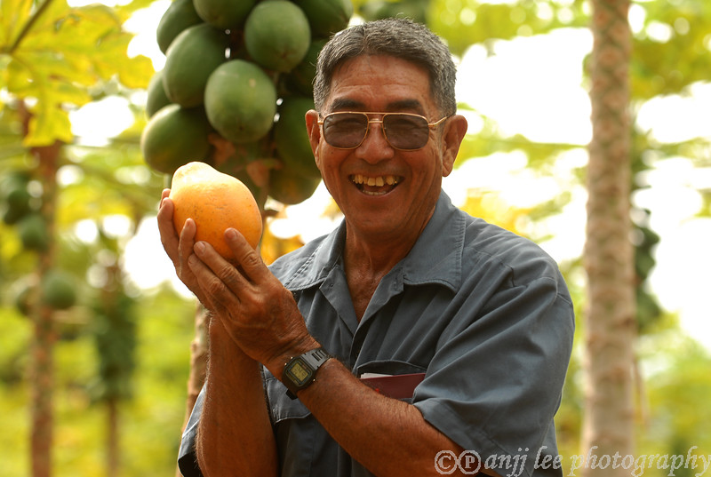 Ken Kamiya, of Kamiy Gold Papaya Farm photographed by anjj lee