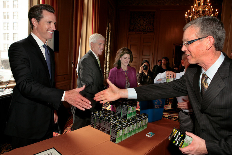 Kimpton Hotels & Restaurants and San Francisco Mayor Gavin Newsom Announce Green Seal Certification of All Ten Bay Area Hotels at the Sir Francis Drake Hotel in San Francisco on Thursday, August 26th, 2010