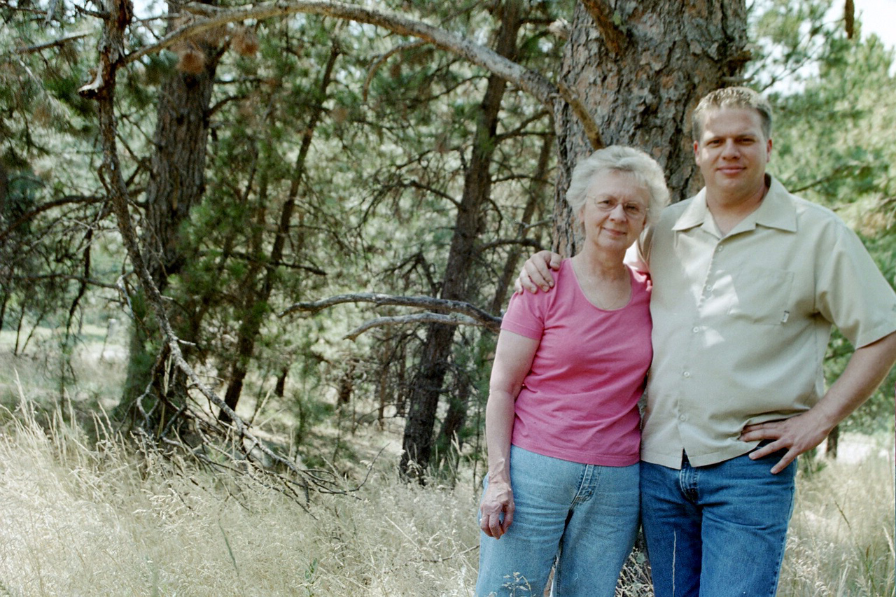 Mother and son in the Black Hills