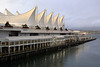 The 'five sails' at the Vancouver harbour - our conference was in the almost-completed Hyatt