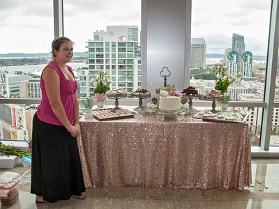 Lisa Helton's desserts for a wedding at Petco Skybox