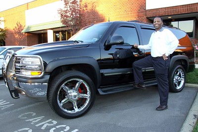 Diamond Richard Dowdy with his newest toy!