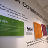 LCHP 50th anniversary year. Timeline of Lowell Community Health Plan history, in the main corridor. (SUN/Julia Malakie)