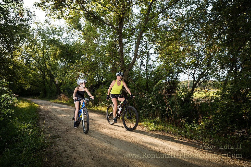 Cycling on Military Ridge Trail