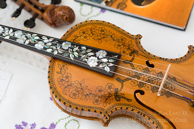 Norwegian Hardanger Fiddlers &  Fiddle Display