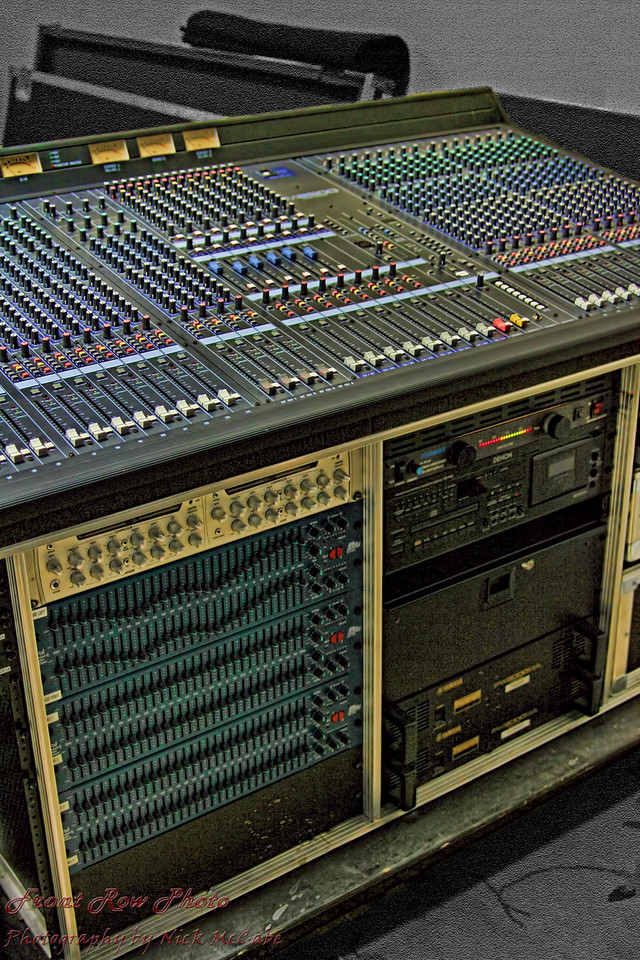 A state of the art Yamaha M2500 mixing console is the heart of the sound system..