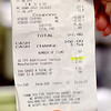 A receipt  from Market Basket shows the 4% savings. SENTINEL & ENTERPRISE/JOHN LOVE