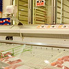 Empty meat shelves at Market Basket on John Fitch Highway in Fitchburg on Wednesday around 5 in the afternoon. SENTINEL & ENTERPRISE / Ashley Green
