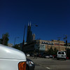 Action photo of the Wilson Tower (what?) from a speeding cab!