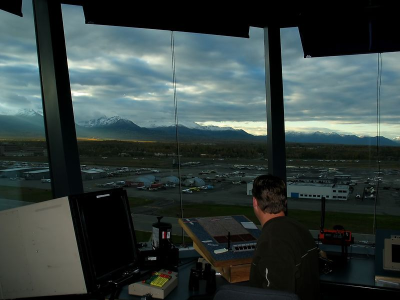Sam, on ground control. Nice view from the 10th floor office, Merrill Field FAA control tower.