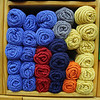 Some of the yarn in Penny Godin store the Merry Weaver in Leominster on Friday Morning. SENTINEL & ENTERPRISE/JOHN LOVE