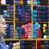 Penny Godin of the Merry Weaver in Leominster chats about her store on Friday Morning. SENTINEL & ENTERPRISE/JOHN LOVE
