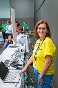 Sara Nagy (Microsoft) preparing an HP EliteBook 2760p with Windows 8.