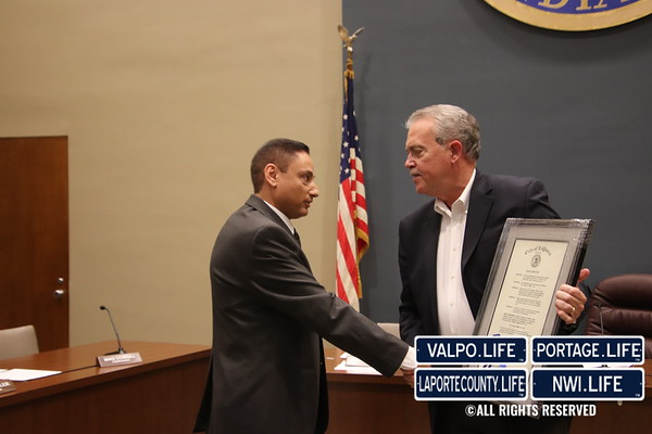 Dr. Moustafa received a commendation by the Mayor at the La Porte City Council Meeting 2019