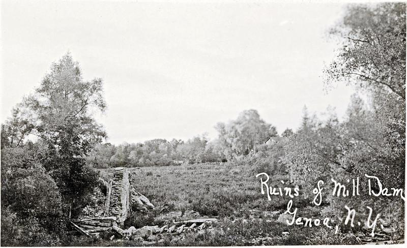 Ruins of Mill dam, Genoa, NY. (1922?) (Photo ID: 27928)