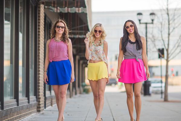 Girls on the Sidewalk