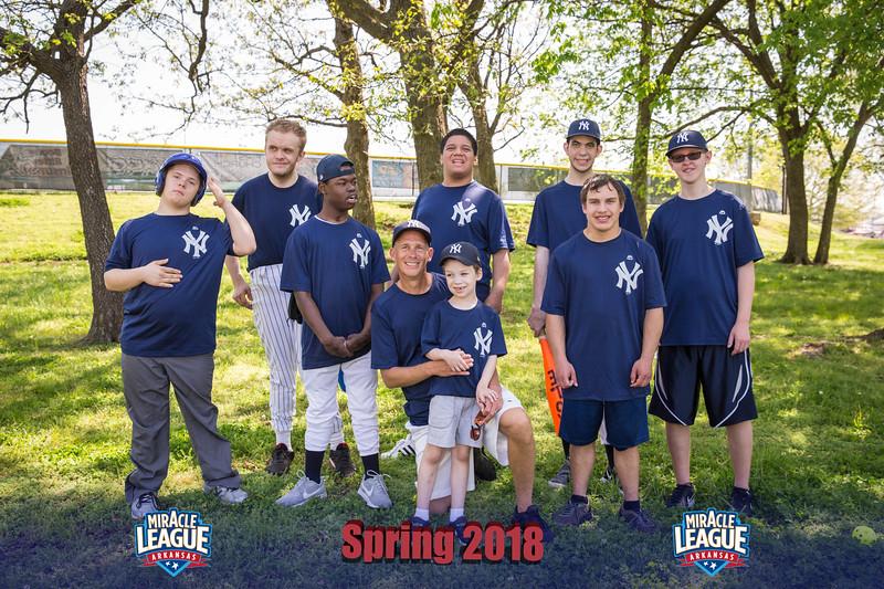 Miracle League Spring '18 Group Photos